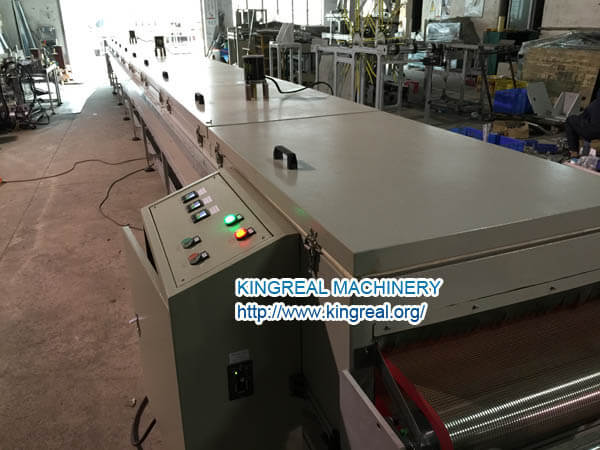 drying oven of acoustic fleece stick machine