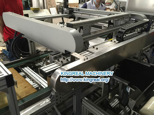 black fleece fixing machine for half-perforated ceiling tile