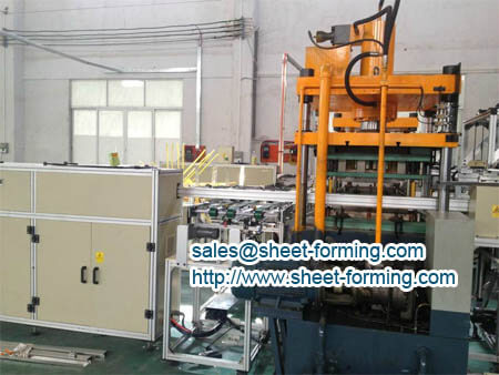 automatic production line for perforated ceiling plate