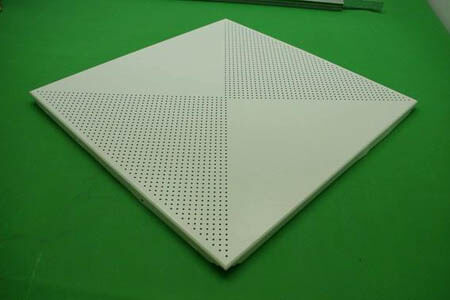 irregular perforated ceiling tile