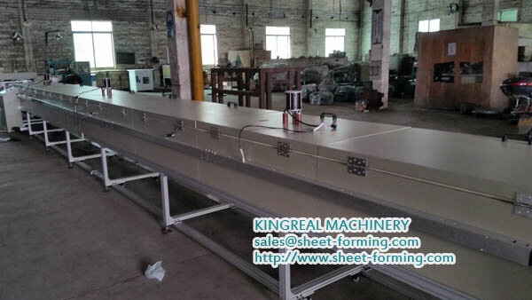 kingreal cooling line for textile install machine