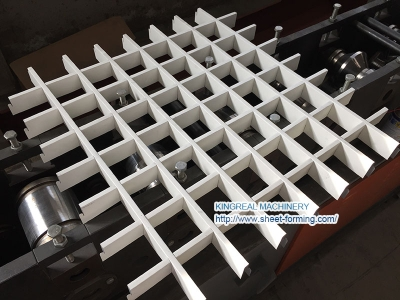 Aluminum Grill Ceiling Roll Forming Machine