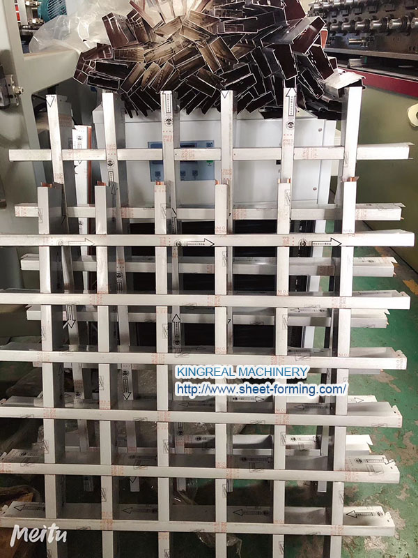 grille open cell ceiling making machine